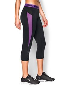 online store 62732 8822c Under Armour Womens HeatGear CoolSwitch Capri Black 004 Large -- Click  image for more details