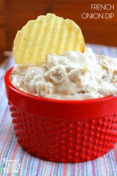 Skip the store bought stuff and make your own French Onion Dip! It's easy and SO freaking good!