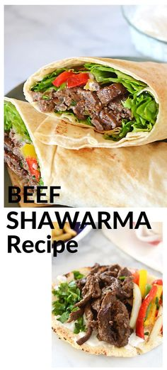 Middle Eastern Recipe Beef Shawarma recipe with the best marinade ever. This beef shawarma is warmly spiced with Middle Eastern seasoning and cooked to make a luscious beef shawarma wrap. Lamb Recipes, Wrap Recipes, Chicken Recipes, Cooking Recipes, Sunday Recipes, Turkish Recipes, Ethnic Recipes, Persian Recipes, Recipes