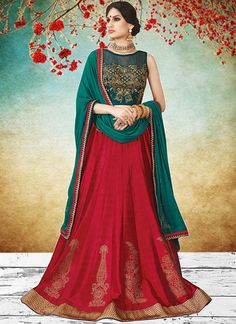 Exceptional Embroidered Work Lehenga Choli  http://www.dialnfashion.com/product/lehenga-choli/exceptional-embroidered-work-lehenga-choli/ #lehenga #chaniyacholi Chaniya choli Bridal lehenga