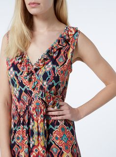 Make a statement in this havana aztec print maxi dress. Perfect for the warmer months ahead. Multicoloured havana aztec print maxi dress Havana aztec print Cross over front Stretch fit Model& height is Sainsburys, Havana, Baby Kids, Fitness Models, Summer Dresses, Aztec, Casual, Women, Fashion