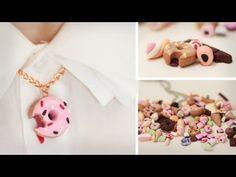 ▶ DIY Süßes aus Fimo - Donut, Eis, Schoki, Marshmallows, Haribo - für Ketten, Handys - Cabochons - YouTube