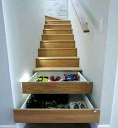 Interior Under Stairs Closet Storage Solutions Closet Storage For Small Spaces. Under Stairs Storage Containers. Under Stairs Storage Units. Stair Drawers, Stair Storage, Staircase Storage, Hidden Storage, Extra Storage, Stair Shelves, Secret Storage, Drawer Storage, Shoe Shelves