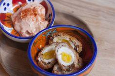 Aztec Quail's Eggs  Full menu: http://www.kahluacoffeehouse.com/menus