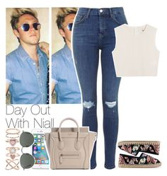 """""""Day Out With Niall"""" by twerkhazz ❤ liked on Polyvore featuring Accessorize, Valentino, Ray-Ban, Topshop and Samuji"""