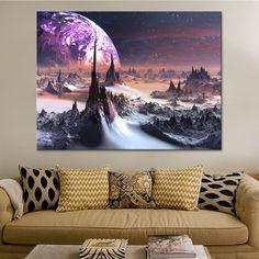 Space Painting, Canvas Painting Landscape, Galaxy Painting, Canvas Paintings, Big Canvas, Canvas Wall Art, Canvas Prints, Strange Art, Weird Art