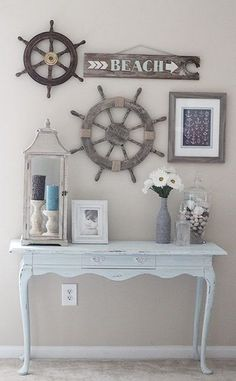 52 DIY Ideas & Tutorials for Nautical Home Decoration. 52 DIY Ideas and Tutorials for Nautical Home Decoration. Decor, Interior, Beach House Decor, Cottage Decor, Beach Cottage Style, Home Decor, Beach Bedroom, Nautical Home, Living Decor