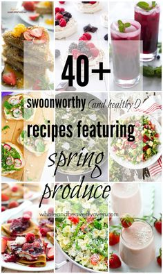 Swoonworthy (and healthy!) Recipes Featuring Spring Produce compiled by Healthy Dinner Recipes, Vegetarian Recipes, Snack Recipes, Cooking Recipes, Rhubarb Coffee Cakes, Clean Eating, Healthy Eating, Healthy Food, Healthy Juices
