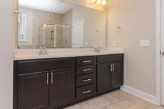 Owner's suite bathroom in the Clark Craftsman KS