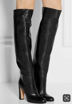 Hongyi Autumn Winter Newest Black Boots Woman round toe over the knee boots thick heels riding boots motorcycle leather boots Thigh High Boots, High Heel Boots, Heeled Boots, Bootie Boots, Shoe Boots, Women's Boots, Dress Boots, Long Boots, Leather Over The Knee Boots
