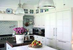 Small kitchen shelves and storage idea