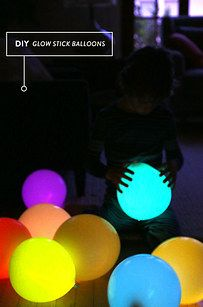 How to make a balloon glow? Put a glowstick inside it!