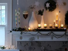 Candles and snowflakes