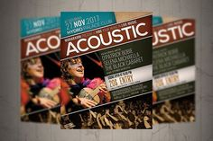 Acoustic Event Flyer / Poster. Event Flyer #2017flyer #acoustic