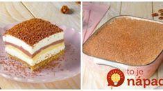 Puding torta s orechmi a mascarpone: Keď sa krája tento dezert, všetky návštevy na ňom môžu oči nechať! Vanilla Cake, Tiramisu, Food And Drink, Cookies, Cheesecake, Ethnic Recipes, Ale, Mascarpone, Vanilla Sponge Cake