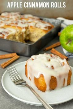 If you love cinnamon rolls then you should really try these apple cinnamon rolls. Soft and fluffy bread with sweet tart soft apple chunks together with heavenly smell cinnamon sugar and covered with creamy cream cheese glaze. Apple Cinnamon Rolls, Cinnamon Apples, Apple Recipes, Cake Recipes, Dessert Recipes, Cinnamom Rolls, Tasty Bread Recipe, Tart Taste, Pan Dulce