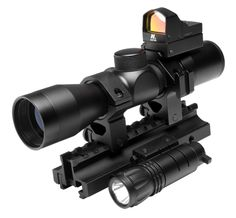 Currently out of stock: NcStar Scope Combo Tactical Triple Threat Combo. Innovative design and cutting edge technology are combined to create one of the most sophisticated scopes on the market today. The NcStar Scope Combo Tactical Triple Threat Combo fits the bill. The Mark III series will push the limits of your shooting abilities.