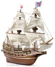Occre HMS Revenge Galleon Wood & Metal Model Boat Scale Ship - available from Hobbies, the UK's favourite online hobby store! Wooden Ship Model Kits, Model Ship Kits, Scale Model Ships, Scale Models, Drake, Hobbies For Men, Model Building Kits, Thing 1, Armada