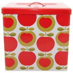 Vintage Apple Canisters | Typhoon Apple Heart Vintage Kitchen - Bread Bin Storage Tin - Krafty ...