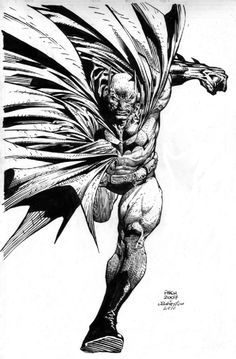 Batman Running Comic Art #Comics #Illustration #Drawing