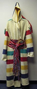 The Metis: Religion / Ceremonies / Art / Clothing, a Hudson's Bay blanket cut into a coat