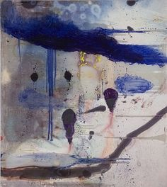 Untitled (Chinese Painting), 2008,  Julian Schnabel.  Spraypaint, ink, resin & oil on polyester  h: 108 x w: 96 in / h: 274.3 x w: 243.8 cm  Neo-expressionism