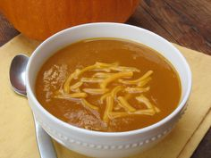 #Pumpkin Soup with #AngosturaBitters!  3 Tbsp. butter  1 medium yellow onion, thinly sliced  2 cloves garlic, sliced  1/2 tsp. dried rosemary, crushed  1 can (15 oz.) pure pumpkin  4 cups (32 oz.) chicken broth or vegetable broth  1 Tbsp. packed brown sugar  1 1/2 tsp. ANGOSTURA® aromatic bitters  Dash nutmeg (optional)  Shredded Cheddar cheese  Fresh-ground pepper  #fall #recipe #soup