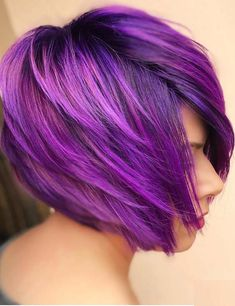 Beautiful shades of purple hair colors for women 2018.