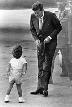 U.S. JFK greeting John Jr.