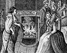 Ireland's pirate queen Grace O'Malley (1530-1603) meeting Elizabeth I