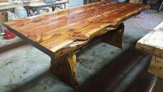 Cedar Table Rustic Cedar Dining Table Cedar Dining Table Country Dining Tables, Dining Room Table, Cedar Table, Trestle Table, Live Edge Table, Rustic Furniture, Barn Wood, Furniture Makeover, Etsy