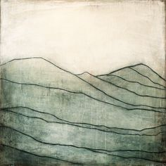 Karine Léger - Blue Mountain I, 2013 - Acrylic on canvas