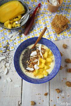 smoothie bowl mangue-banane - Blog de Châtaigne