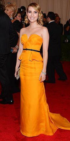 yellow peplum dress. love it.