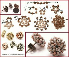 seed bead tutorials for beginners Seed Bead Bracelets, Seed Bead Jewelry, Bead Jewellery, Seed Bead Earrings, Hoop Earrings, Beaded Earrings Patterns, Seed Bead Patterns, Beading Patterns, Art Perle