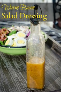 Warm bacon salad dressing kicks up the flavor of any salad.