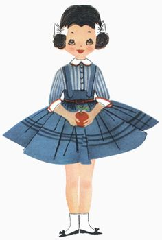 Betsy McCall - printable paper dolls - and some great links to other paper doll pages.  I remember being so excited when my mom's McCall's magazine would come in the mail, so I could cut out the paper doll and her clothes!  :)