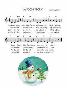 Advent, Chart, Snowman, Music, Ideas, Winter, Learning, Musica, Musik