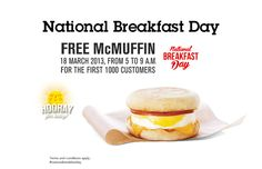 FREE McMuffin – Celebrating National Breakfast Day at McDonalds