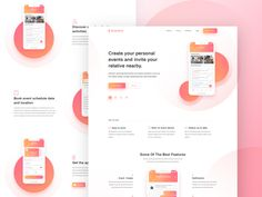 Event App Landing Page Design designed by Mithun Ray✪ . Connect with them on Dribbble; the global community for designers and creative professionals. Web Design Firm, Web Design Software, Web Design Company, Ui Design, Event Landing Page, App Landing Page, Landing Page Design, App Marketing, Digital Marketing