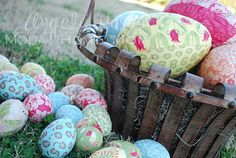 Découpage Egg How-To ~ Let's all do this for Easter then share & compare how we did it on pinterest. Rae