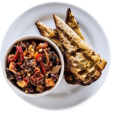 """This caponata uses a technique called a """"cold fry."""" Instead of frying the vegetables in preheated, hot oil, you combine the vegetables and room temperature oil in a pot and heat them up together. The benefit of this method is that you use less oil than you would normally use when you """"hot fry"""" and there is very little splatter because the food and oil are always at the same temperature. And, like """"hot frying,"""" you still get a golden crispy exterior and soft, creamy interior but with no…"""