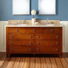 30 bastian teak vessel sink vanity rustic brown