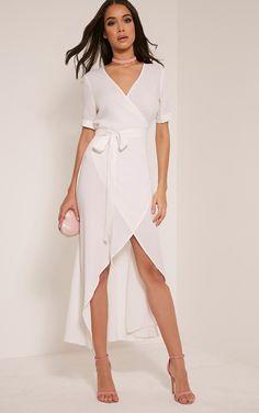 e763902330 Renesmee White Wrap Maxi Shirt Dress Image 1 Maxi Shirts