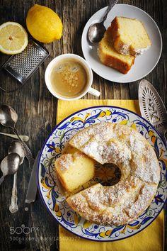Lemon Yogurt Coffee Cake by Anjelika Gretskaia on Mini Desserts, Just Desserts, Sweet Recipes, Cake Recipes, Dessert Recipes, Cake Stock, Lemon Yogurt, Cupcakes, Coffee Cake