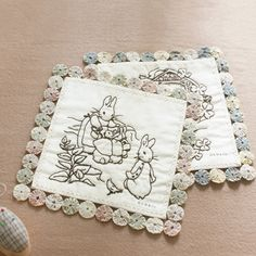 these are quilt squares - but I think they're cute on their own!
