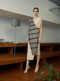 Платье бежевое - ANNA YAKOVENKO - 3225578