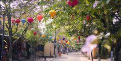 Vietnamese lampionnen als straatverlichting in Hoi An