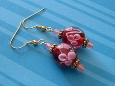 glass beaded earrings