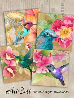 Preschool Crafts That Are Simple And Fun Inspiration Artistique, Mini Canvas Art, Bird Artwork, Arts And Crafts Projects, Fabric Painting, Beautiful Birds, Scrapbook Paper, Art Drawings, Decoupage